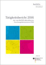Cover des Tätigkeitsberichtes 2016 des RatSWD